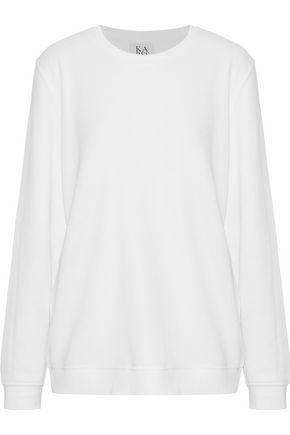 ZOE KARSSEN Cotton-blend terry sweatshirt
