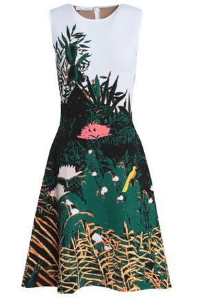 OSCAR DE LA RENTA Jacquard-knit dress