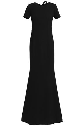 OSCAR DE LA RENTA Cutout wool-blend crepe gown