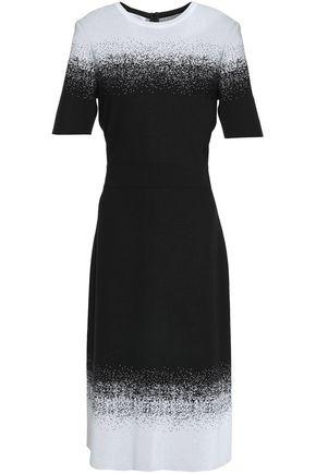 OSCAR DE LA RENTA Jacquard-knit midi dress