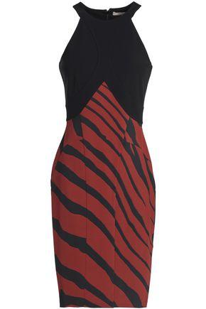 ROBERTO CAVALLI Zebra print crepe dress