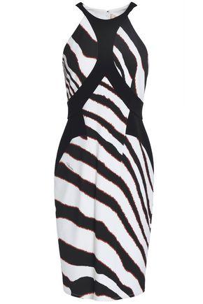 ROBERTO CAVALLI Zebra-print crepe dress