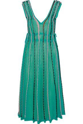 M MISSONI Metallic crochet cotton-blend midi dress