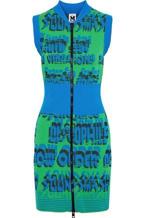 M MISSONI Paneled jacquard-knit mini dress