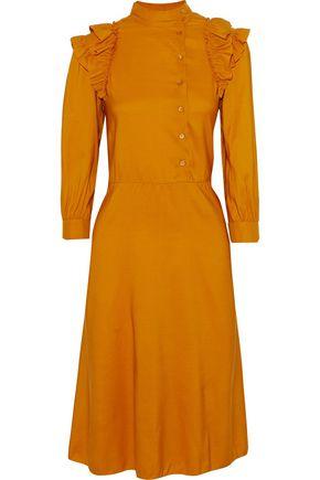 M MISSONI Ruffle-trimmed wool and silk-blend dress