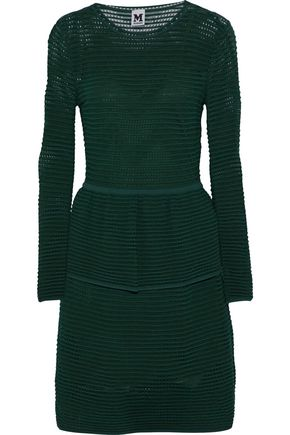 M MISSONI Pointelle-knit peplum dress