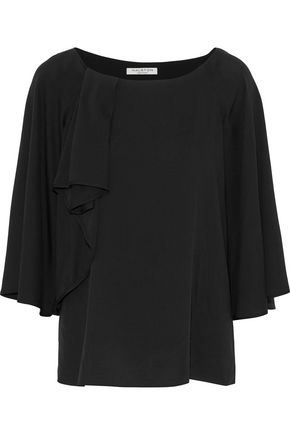 HALSTON HERITAGE Layered silk-blend blouse