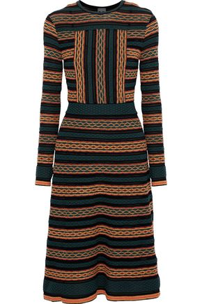 M MISSONI Metallic crochet-knit dress
