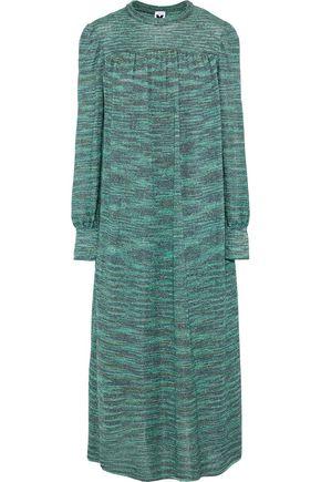 M MISSONI Metallic intarsia-knit midi dress
