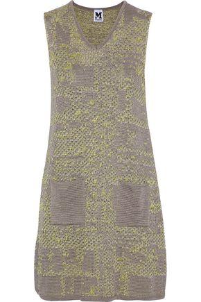 M MISSONI Metallic crochet-knit cotton-blend mini dress