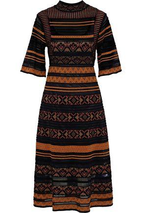M MISSONI Embroidered crochet-knit midi dress
