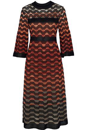 M MISSONI Open-knit wool-blend midi dress
