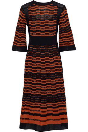 M MISSONI Embroidered crochet-knit dress