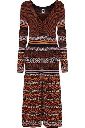 M MISSONI Metallic jacquard-knit midi dress