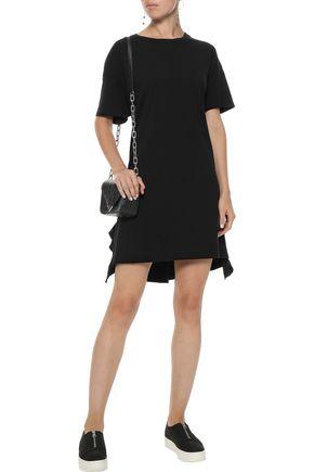 CURRENT/ELLIOTT The SS Side Slit ruffle-trimmed cotton-jersey mini dress