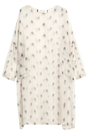 MARNI Printed silk-gauze mini dress