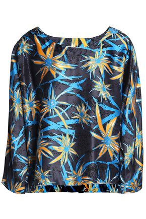 MARNI Printed satin blouse