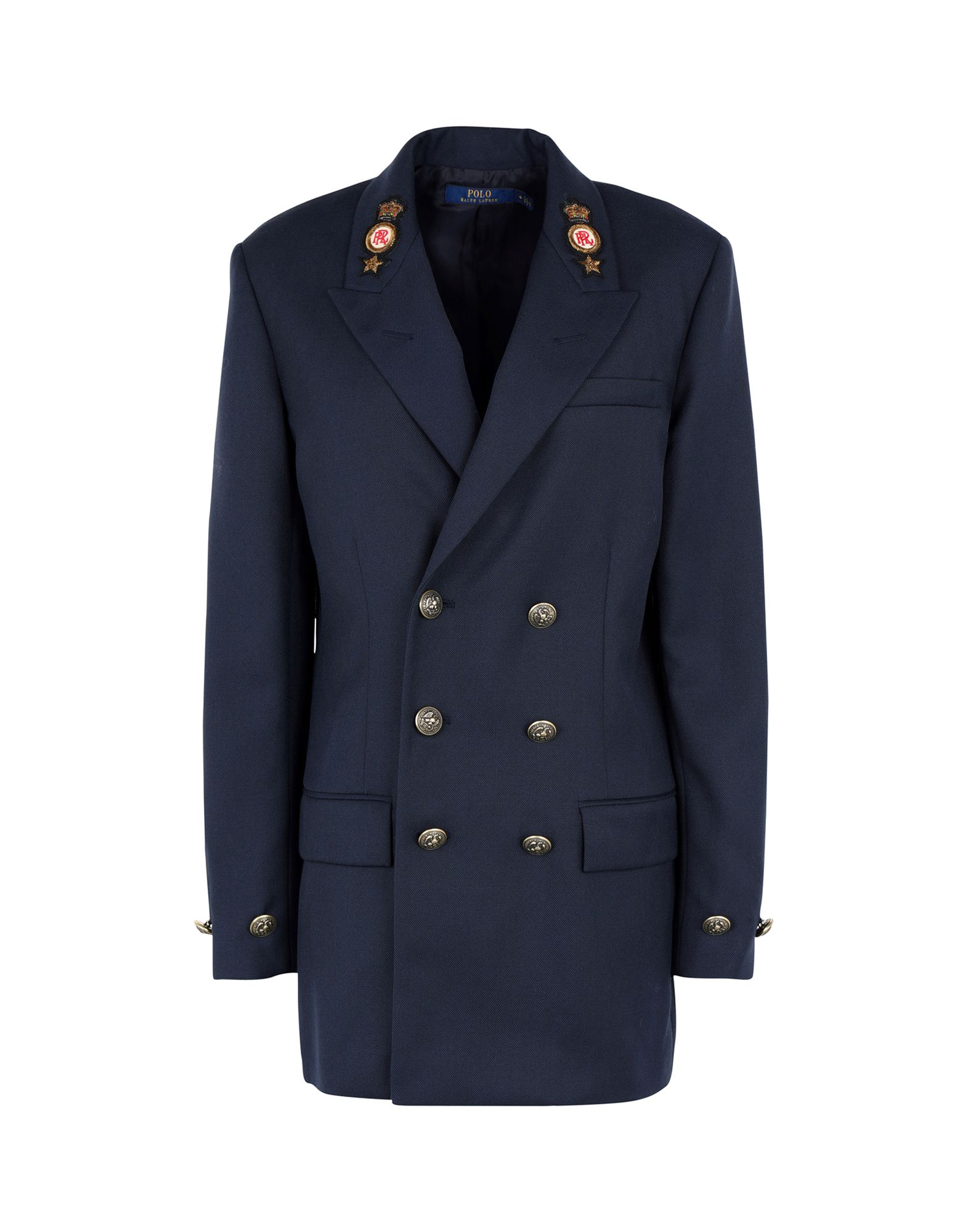 《セール開催中》POLO RALPH LAUREN レディース テーラードジャケット ダークブルー 4 ウール 100% Fin Blazer