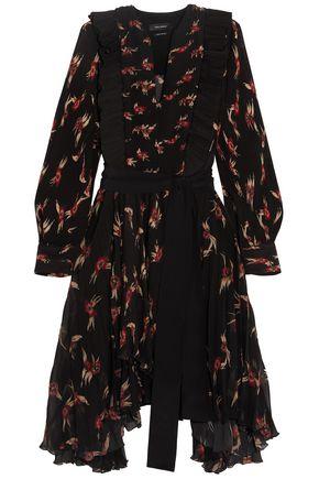 ISABEL MARANT Wesley ruffled floral-print plissé-chiffon dress
