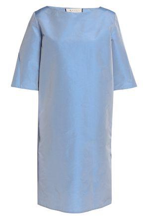 MARNI Pleated textured-taffeta dress