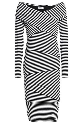 BAILEY 44 Edamame paneled striped stretch-jersey dress