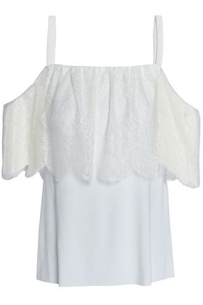 BAILEY 44 Montage cold-shoulder lace-paneled stretch-jersey top