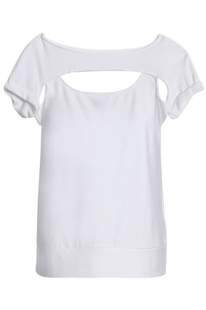 BAILEY 44 Pas De Chat cutout stretch-modal jersey T-shirt