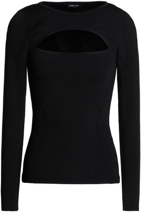 CUSHNIE ET OCHS Cutout stretch-knit sweater