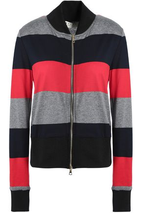 MARNI Striped cotton-blend jersey jacket