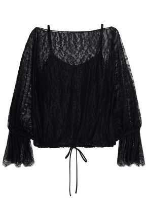 BAILEY 44 Gathered lace blouse