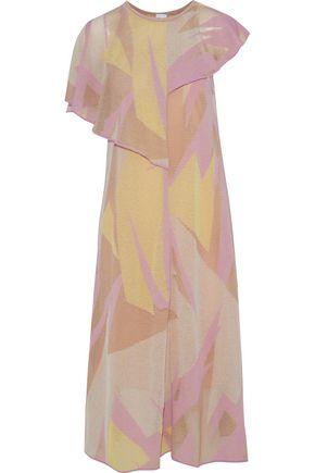 M MISSONI Layered crochet-knit cotton-blend midi dress