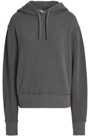 VINCE. French cotton-blend terry hoodie