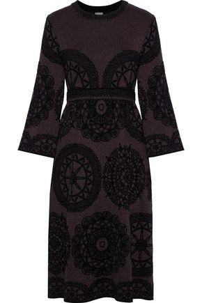 M MISSONI Metallic flocked jacquard-knit dress