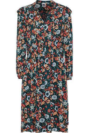 M MISSONI Pussy-bow floral-print poplin dress