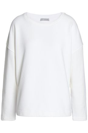 VINCE. Cotton-blend fleece sweatshirt