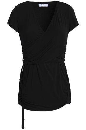 BAILEY 44 Wrap-effect ruched stretch-jersey top