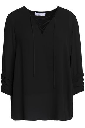 BAILEY 44 Lace-up crepe blouse