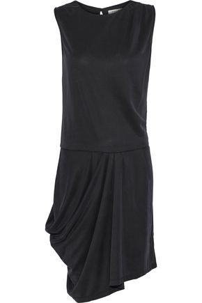 HALSTON HERITAGE Draped modal-blend dress