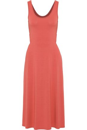 ENZA COSTA Cutout stretch-jersey midi dress