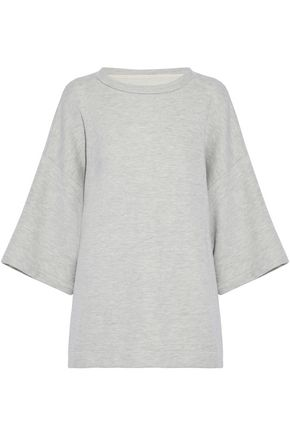 CURRENT/ELLIOTT The X Kimono mélange French cotton-terry sweatshirt