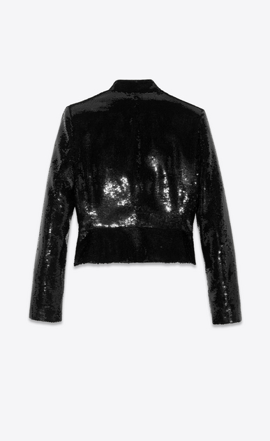 SAINT LAURENT Classic Jackets Woman all over sequined jacket b_V4