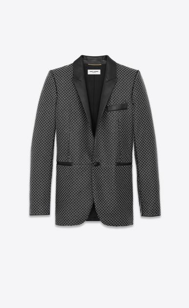 SAINT LAURENT Classic Jackets Damen Blazer aus schwarzem Leder mit Nieten a_V4
