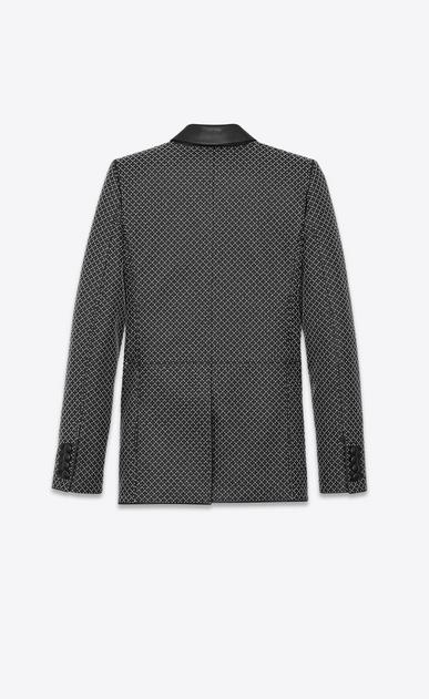 SAINT LAURENT Classic Jackets Damen Blazer aus schwarzem Leder mit Nieten b_V4