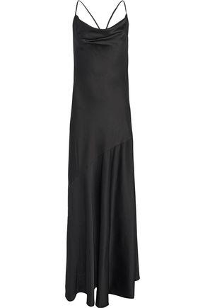 HALSTON HERITAGE Draped satin-crepe gown