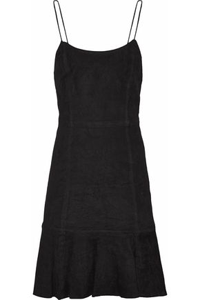 ALICE + OLIVIA JEANS Andalasia suede mini slip dress
