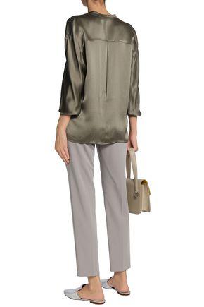 VINCE. Silk-satin shirt