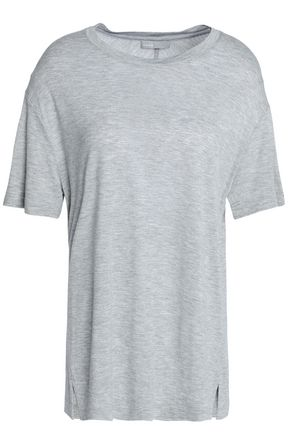 VINCE. Mélange stretch-jersey T-shirt