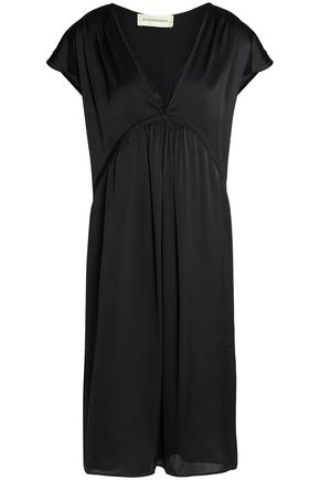 BY MALENE BIRGER Gathered satin-crepe dress