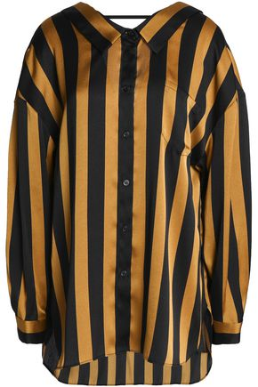BY MALENE BIRGER Draped striped satin shirt