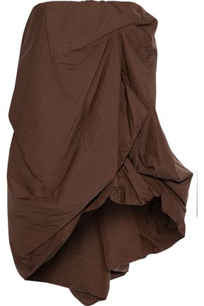 RICK OWENS Strapless draped shell top